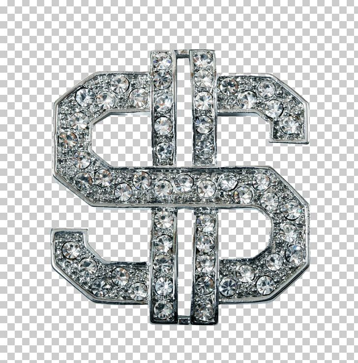 Dollar sign diamond. Bling money stock photography