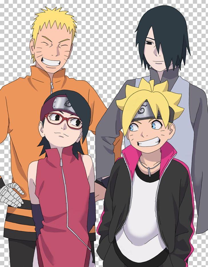 Naruto Uzumaki Sasuke Uchiha Sarada Uchiha Boruto Uzumaki