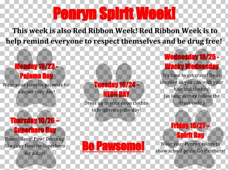 """Red Ribbon Week Spirit Days: """"Pajama Day"""" Brand PNG, Clipart, Area, Brand, Diagram, Export, Fatherdaughter Dance Free PNG Download"""