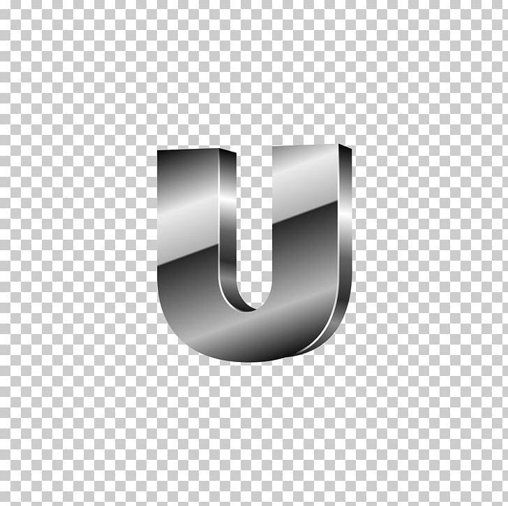 Letter Silver U Png Clipart Black Black Hair Black White Computer Wallpaper Design Free Png Download