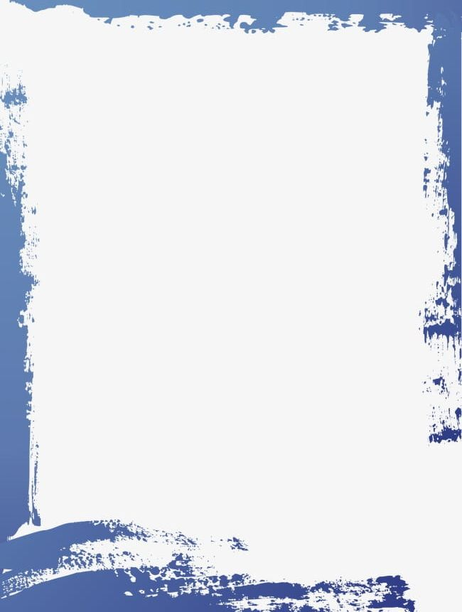 Simple Blue Watercolor Border Frame Png Clipart Abstract