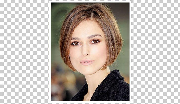Keira Knightley Bob Cut Hairstyle Chanel Png Clipart Bangs