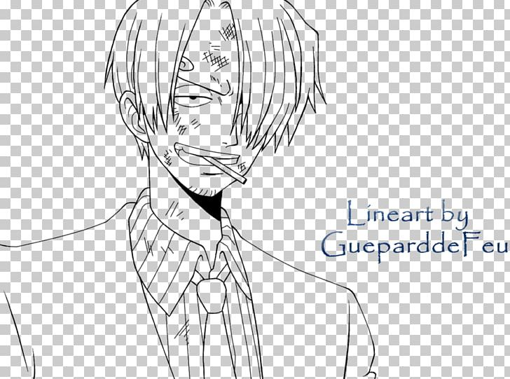 Vinsmoke Sanji Sketch Monkey D Luffy Line Art Drawing Png