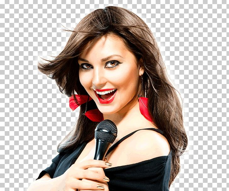 Microphone Singing Singer Female Stock Photography PNG