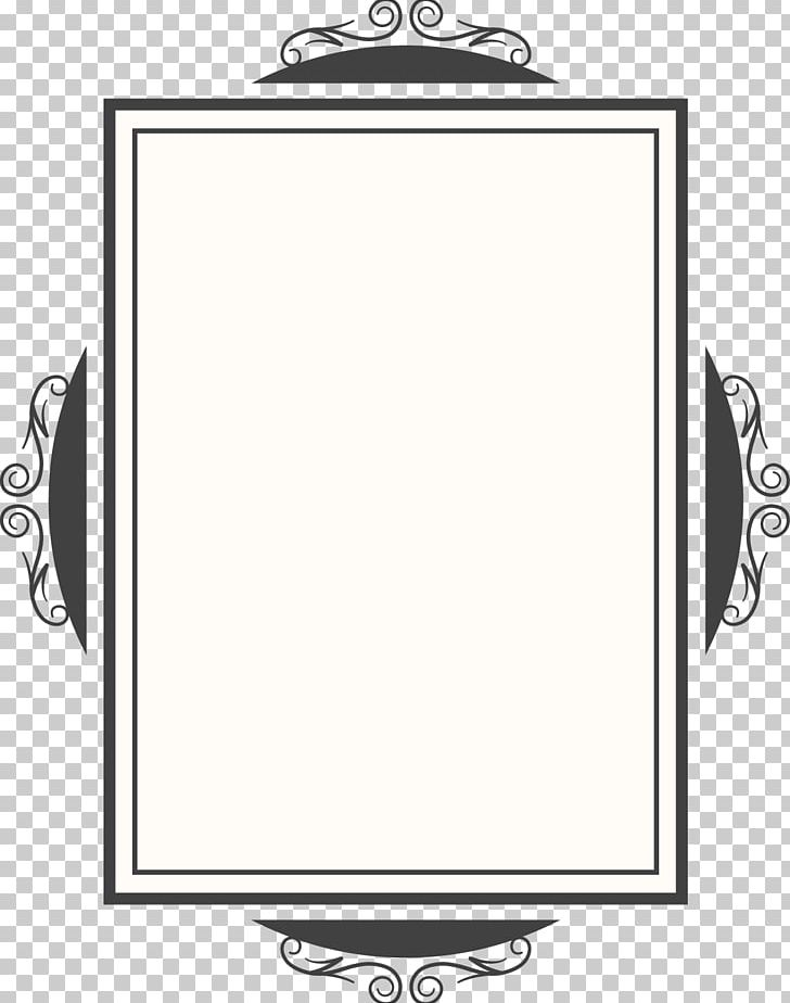 White Mirror Png Clipart Angle, Black And White Mirror Clipart