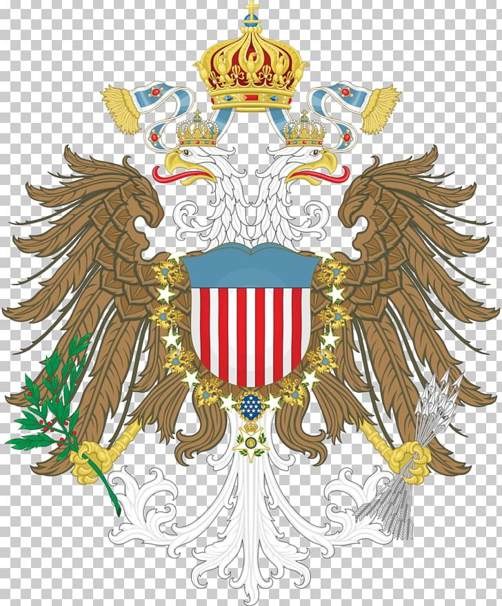 Coat of arms american. United states austrian empire