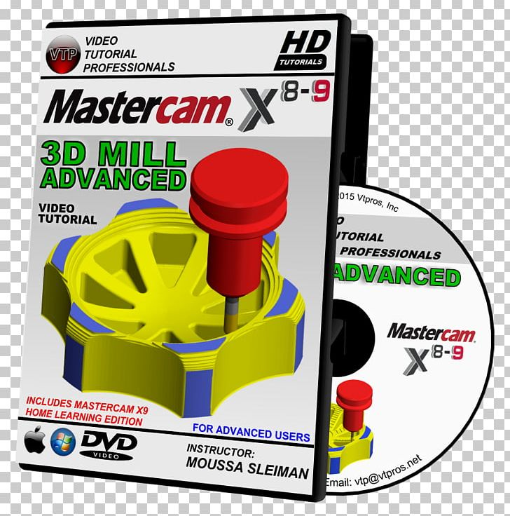Mastercam Solids HD DVD Mastercam X5 Training Guide PNG