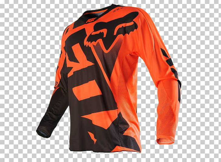Cycling Jersey Fox Racing Motocross Orange Png Clipart Active