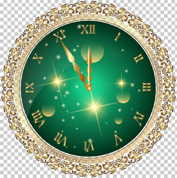 New Year's Eve Clock PNG, Clipart, Art Green, Christmas, Christmas Clipart, Christmas Ornament, Christmas Tree Free PNG Download
