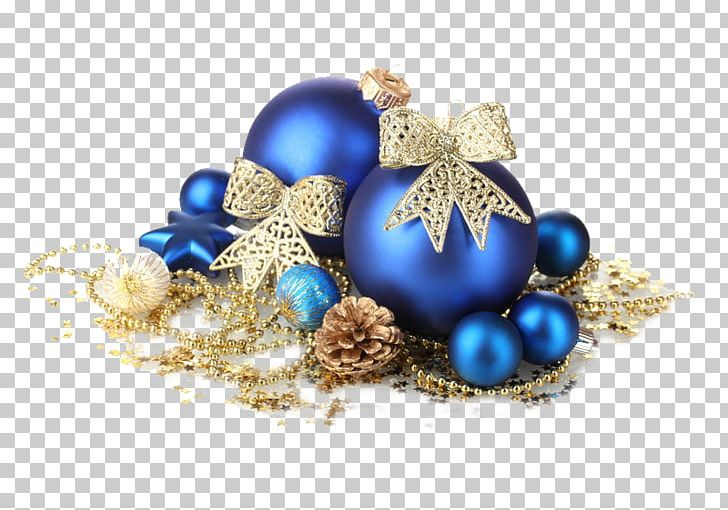 Christmas Decoration Christmas Ornament Gold Blue Png