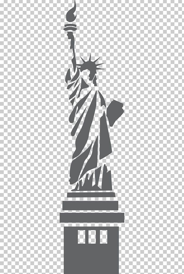 Statue Of Liberty Eiffel Tower Drawing PNG, Clipart, Black And White, Clip Art, Drawing, Eiffel Tower, Landmark Free PNG Download