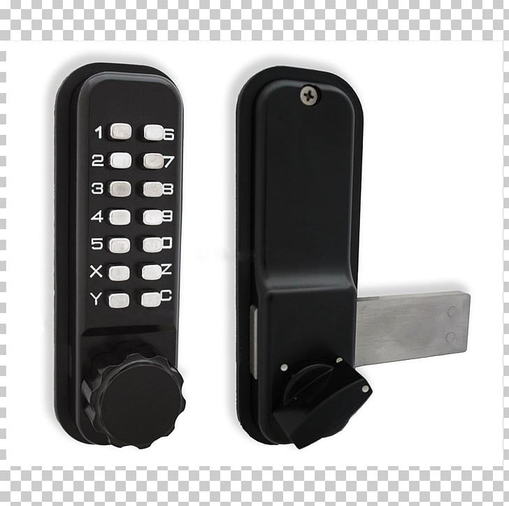 Electronic Lock Dead Bolt Combination Lock Gate PNG, Clipart