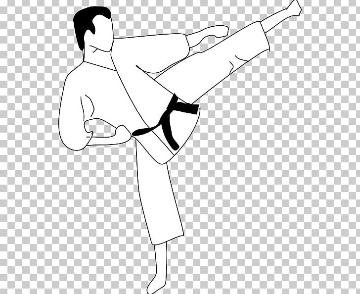 Karate Coloring Book Martial Arts Kick Taekwondo PNG, Clipart, Abdomen, Angle, Arm, Black, Black Belt Free PNG Download