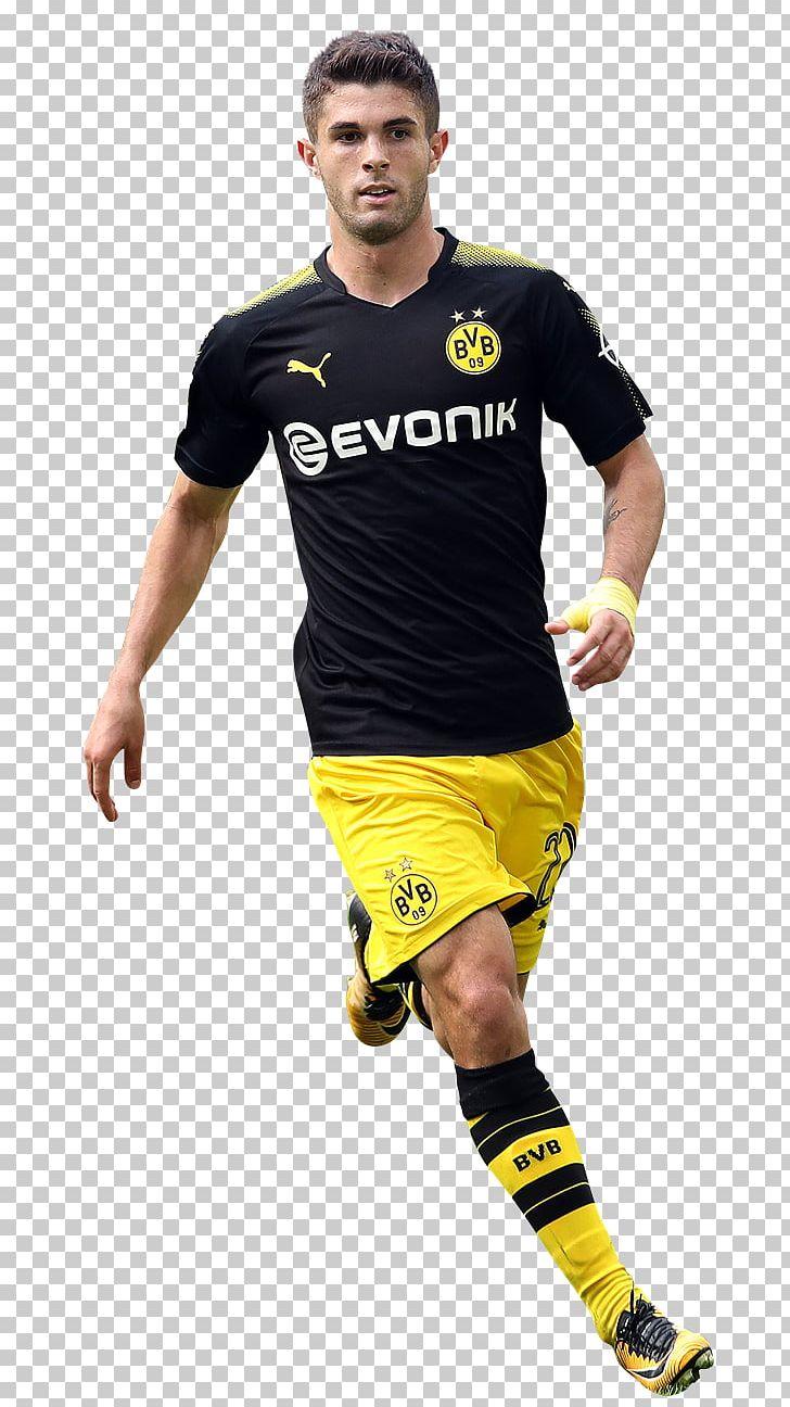 premium selection 9cd93 129e5 Christian Pulisic Jersey Borussia Dortmund Football Player ...