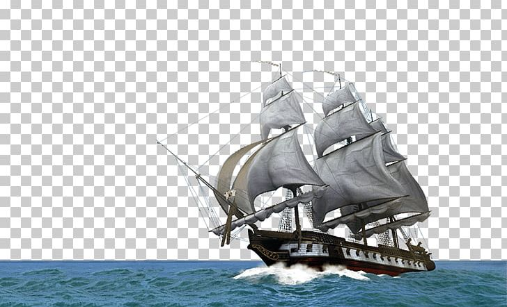Sail Brigantine Clipper Ship Of The Line Full-rigged Ship