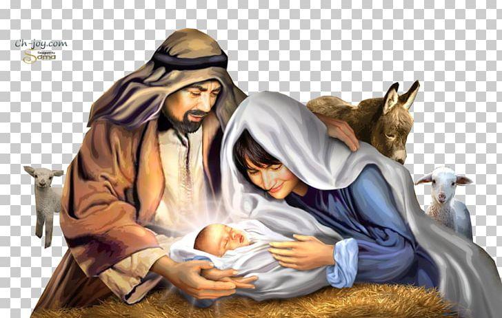 Nativity holy family. Of jesus scene christmas