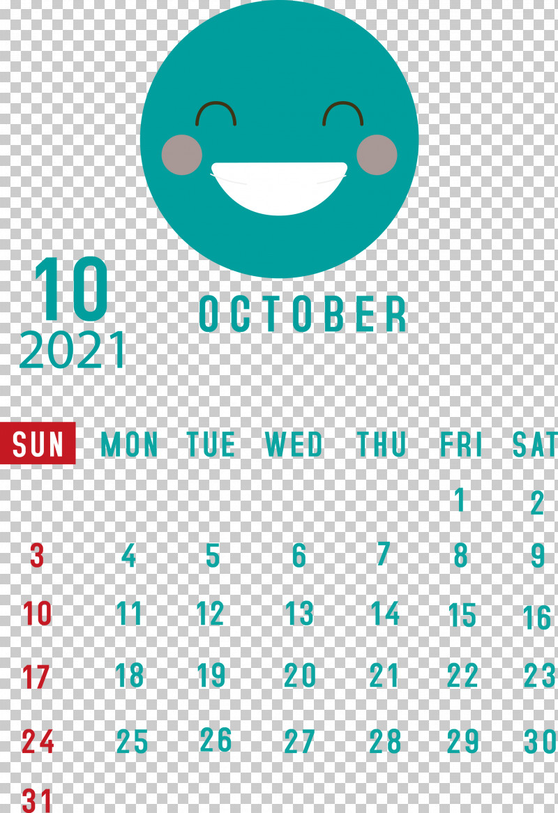 October 2021 Printable Calendar October 2021 Calendar PNG, Clipart, Android, Aqua M, Geometry, Happiness, Line Free PNG Download