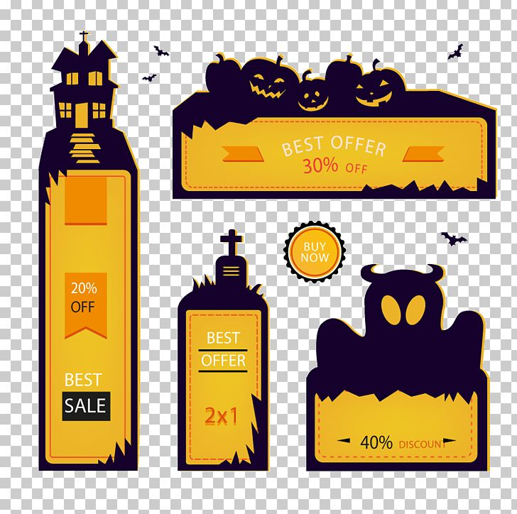 Halloween Banner Poster Advertising PNG, Clipart, Banner, Bottle, Brand, Creative Background, Creative Graphics Free PNG Download