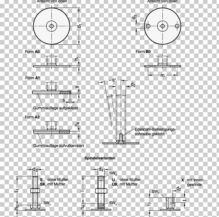 Technical Drawing Maskinskor Screw Interchangeable Parts Edelstaal