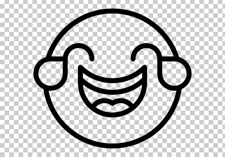 Computer Icons Face With Tears Of Joy Emoji Emoticon Smiley Laughter PNG, Clipart, Area, Black And White, Circle, Computer Icons, Emoji Free PNG Download