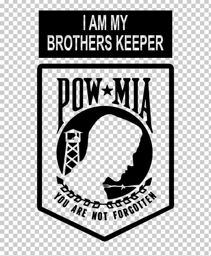 National League Of Families POW/MIA Flag Missing In Action Prisoner Of War Killed In Action Decal PNG, Clipart, Area, Black, Black And White, Brand, Keeper Free PNG Download
