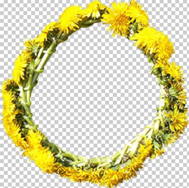 Flower Wreath Yellow Dandelion Png Clipart 29052016 Color