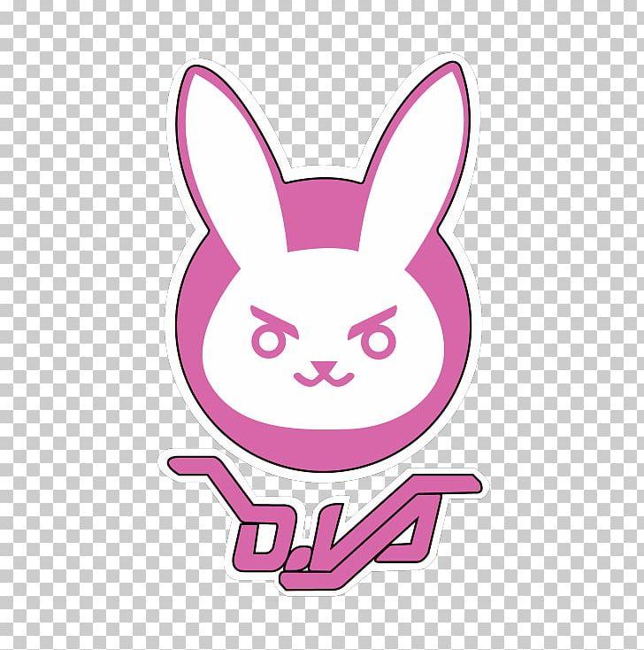 Overwatch T Shirt D Va Logo Decal Png Clipart Area Art Clothing Crew Neck D Va