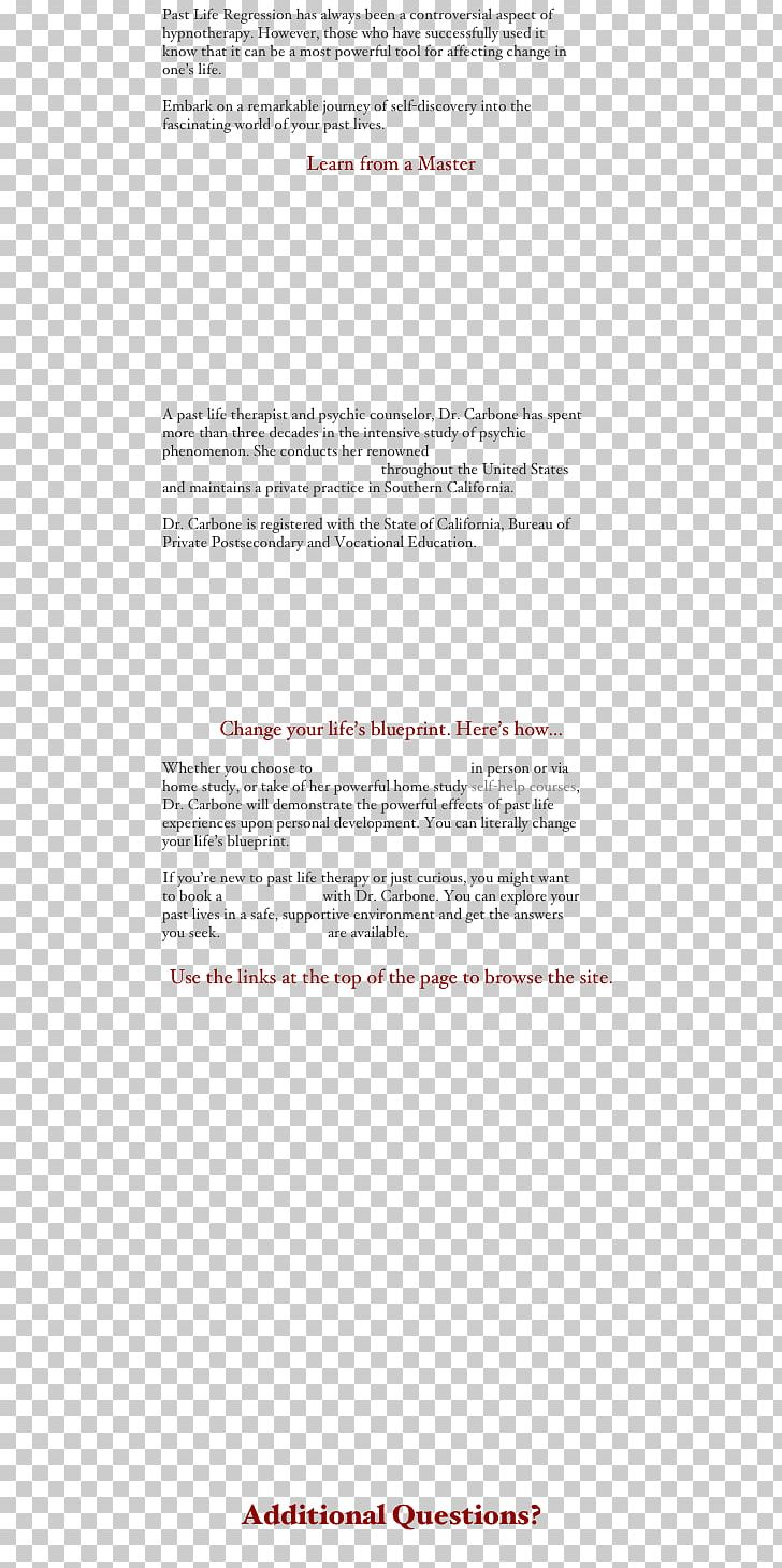 Past Life Regression Hypnotherapy Organization 0 Natural Environment PNG, Clipart, Angle, Area, California, Controversy, Document Free PNG Download