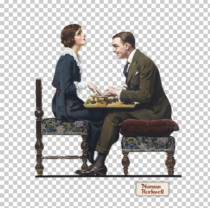 Saturday Evening Post Norman Rockwell Paintings Ouija PNG, Clipart, Art, Artist, Chair, Communication, Conversation Free PNG Download
