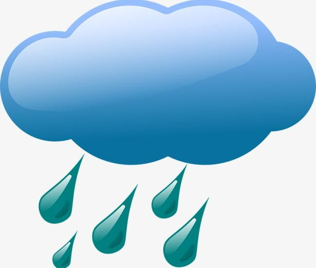Rain blue. Cloud png clipart abstract