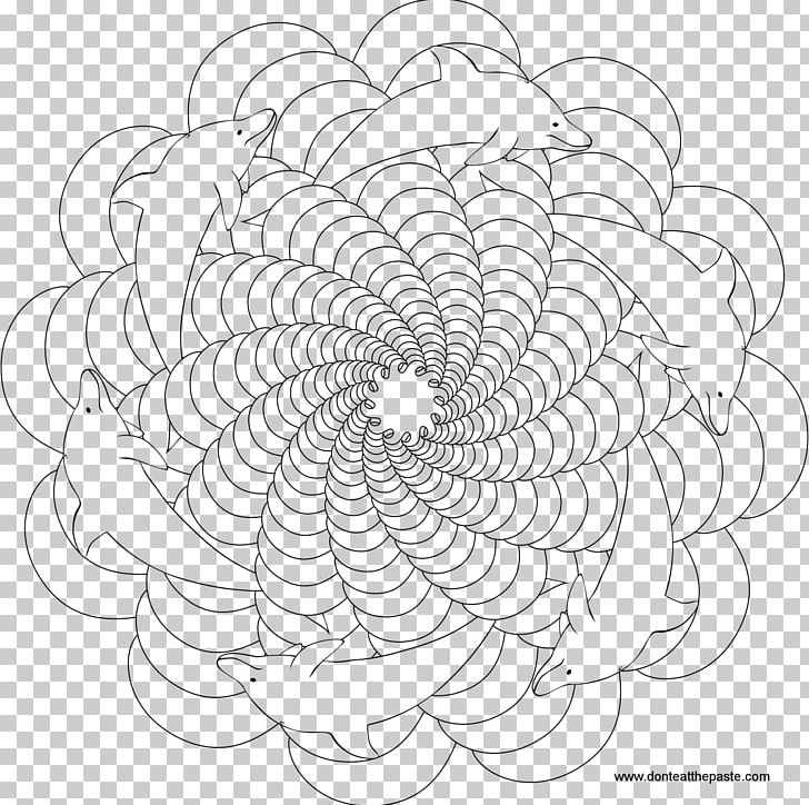Coloring Book Mandala Dolphin Drawing Png Clipart Adult