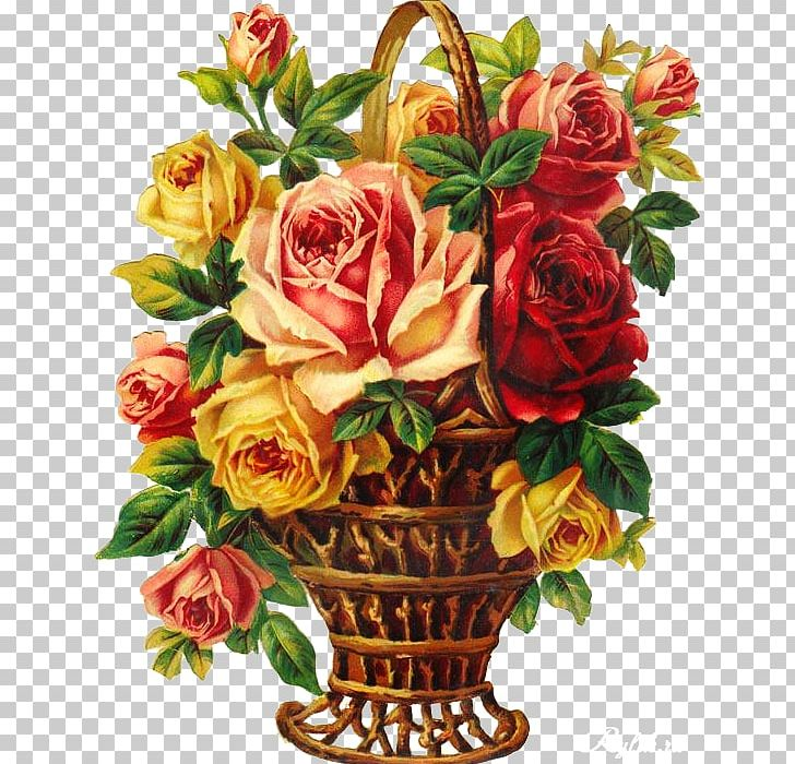 Garden Roses Floral Design Flower Bouquet Cabbage Rose PNG, Clipart, Artificial Flower, Basket, Cabbage Rose, Crossstitch, Cut Flowers Free PNG Download