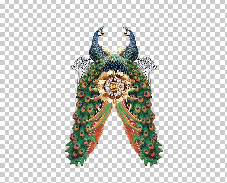 Peafowl Painting PNG, Clipart, Animals, Canvas, Chinese Painting, Costume Design, Double Free PNG Download