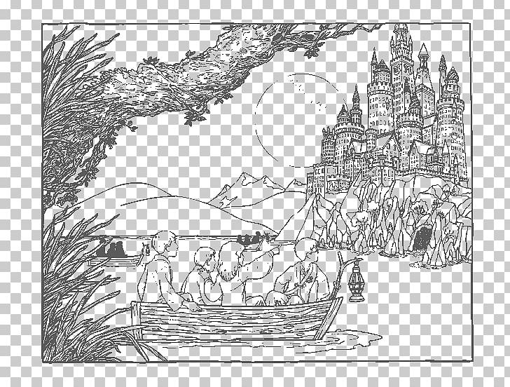 Harry Potter Hogwarts Mystery Coloring Book Ausmalbild Png