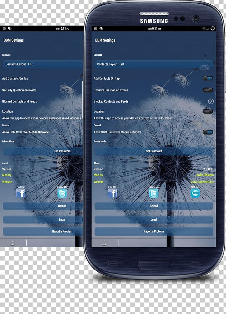 Smartphone Samsung Galaxy Y BlackBerry Messenger Android PNG