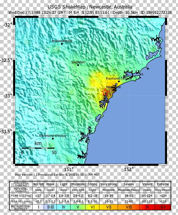 2016 Tanzania Earthquake 1989 Newcastle Earthquake Map ...