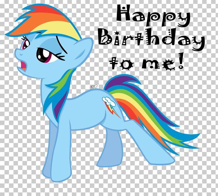 Pony Rainbow Dash Happy Birthday Fluttershy PNG, Clipart