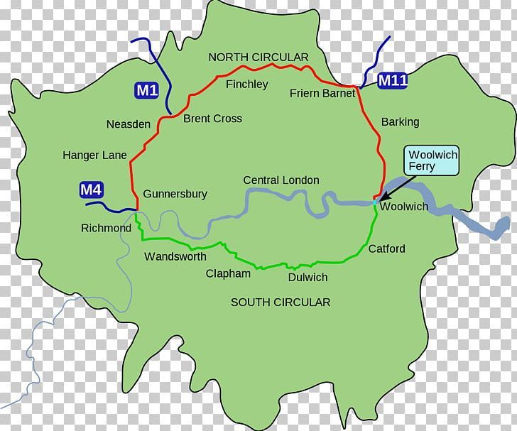 Areas Of Central London Map.North Circular Road South Circular Road Map Central London Png