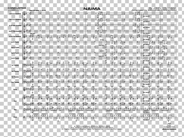 Sheet Music Giant Steps: Naima Saxophone PNG, Clipart, Alto