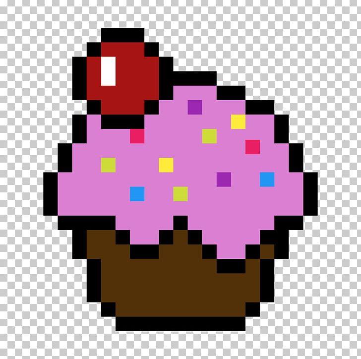 Pixel Art Minecraft Cupcake Drawing Png Clipart Art
