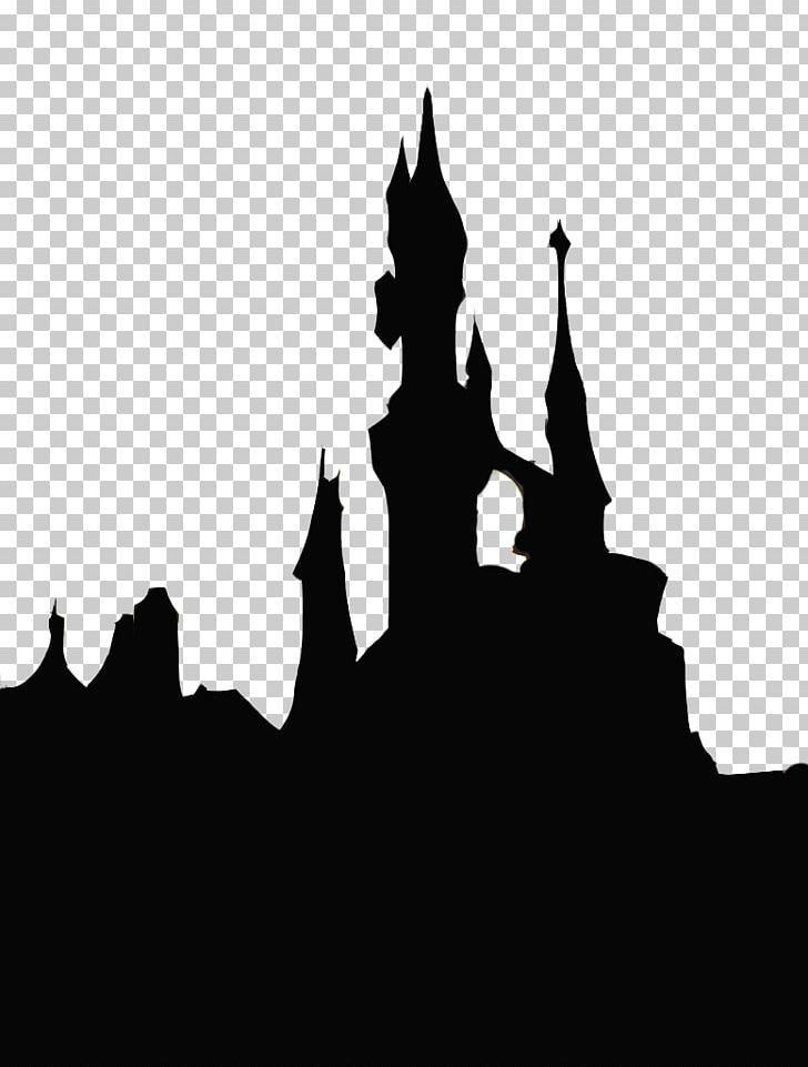 Disney castle sleeping beauty silhouette. Cinderella png clipart