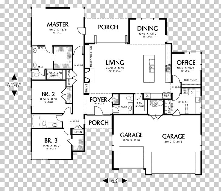 House Plan Floor Plan Ranch-style House PNG, Clipart, Angle ... on