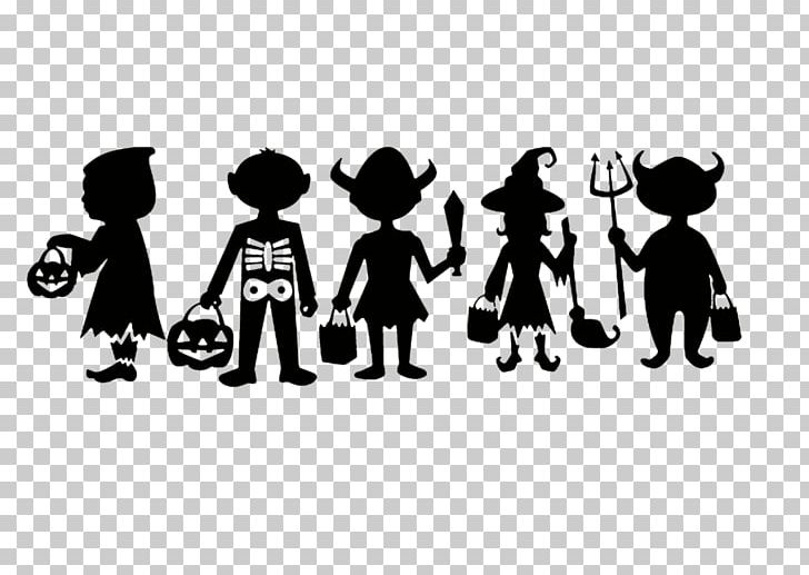 Halloween Trick Or Treat Silhouette.Trick Or Treating Silhouette Halloween Png Clipart Animals