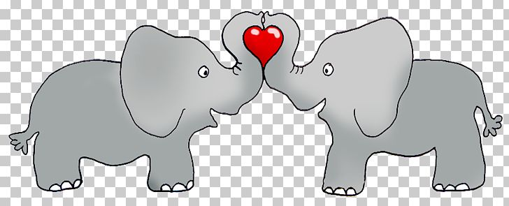 203a390bae477 Valentines Day Elephant Heart Greeting Card PNG, Clipart, Animal ...