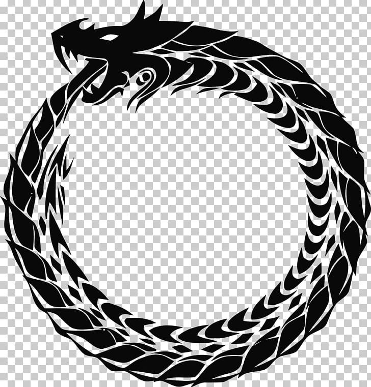 Ouroboros Symbol Drawing Serpent Png Clipart Alchemy Black And