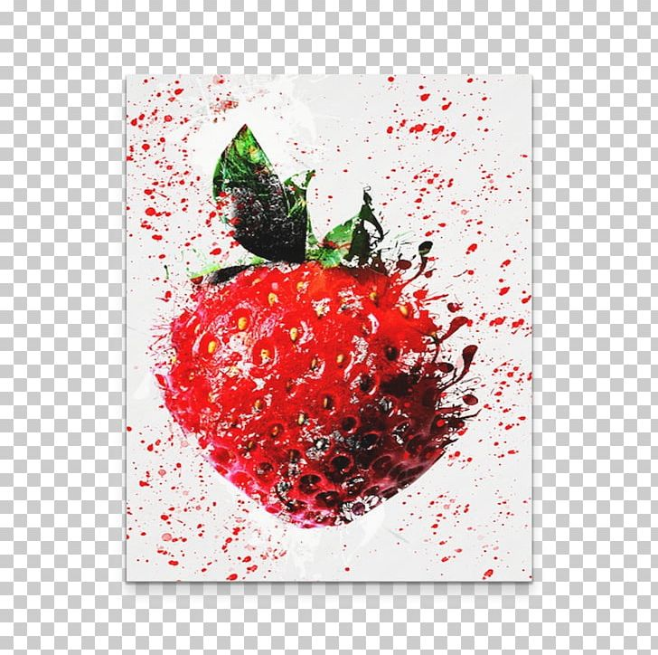 Strawberry Art Painting Fruit Canvas PNG, Clipart, Apple, Art, Auglis, Canvas, Christmas Ornament Free PNG Download