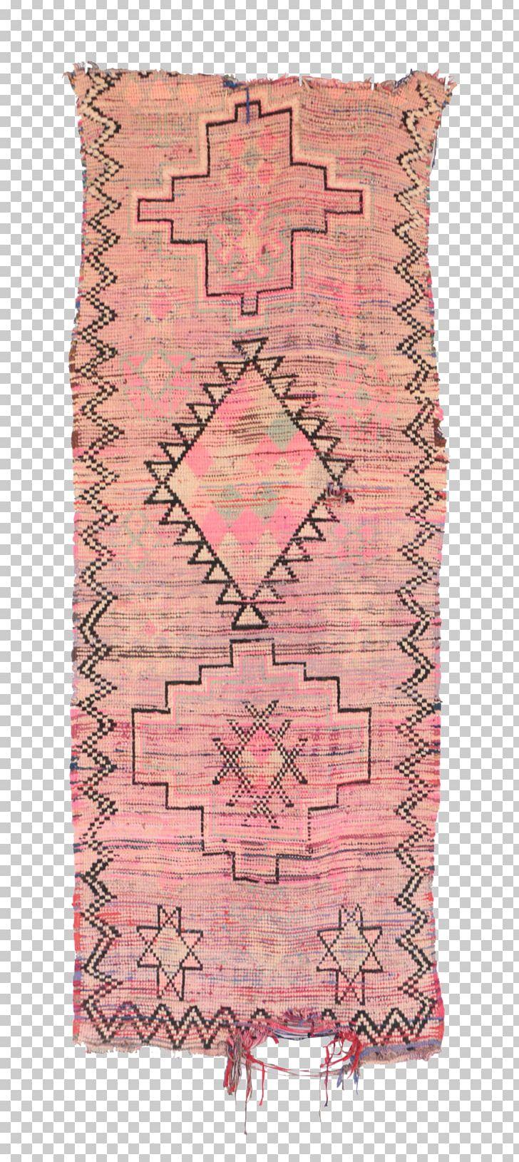 Carpet Indigo Lavender Indigo Moroccan Hand Woven Wool Pink