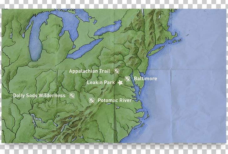 Dolly Sods Wilderness Trail Map Delaware Water Gap PNG ...