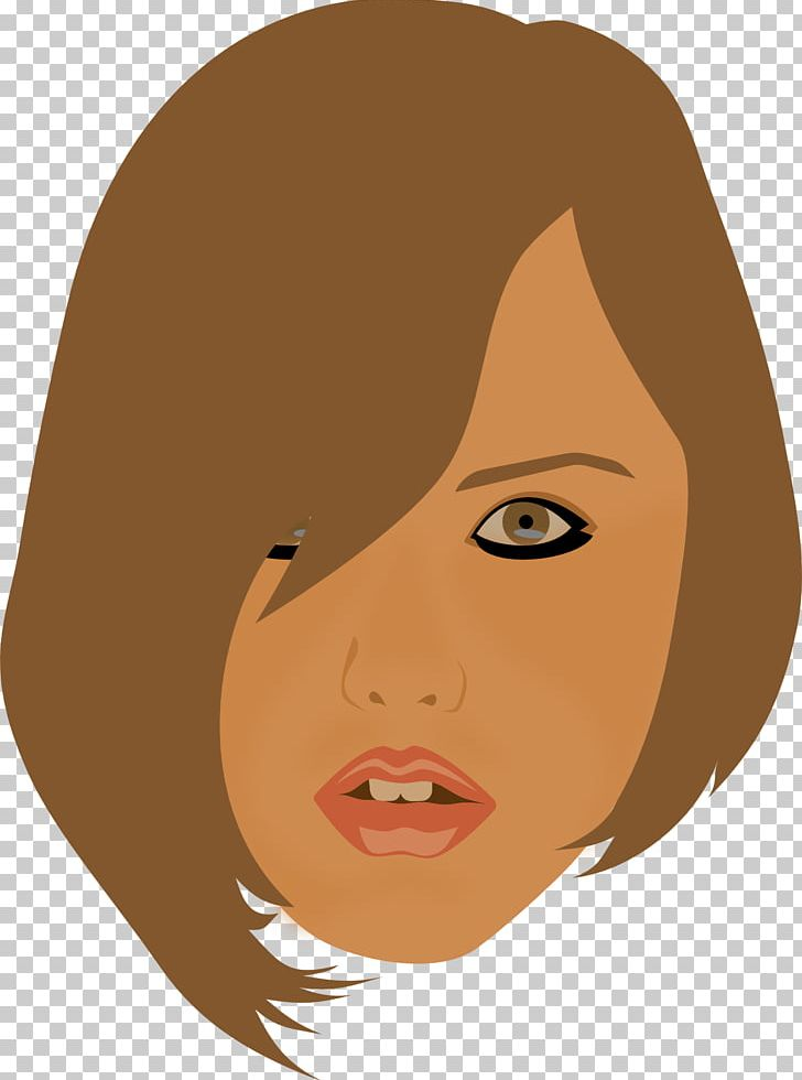 Brown Hair PNG, Clipart, Art, Beauty, Bob Cut, Brown Hair, Cartoon Free PNG Download