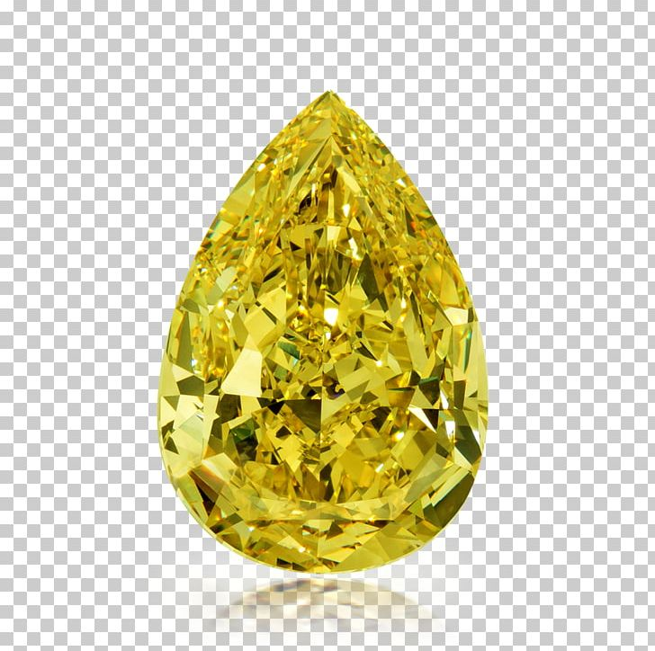 Diamond color. Yellow jewellery gemstone png